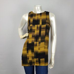 Le Chateau Brown Graphic Print Top Size XS